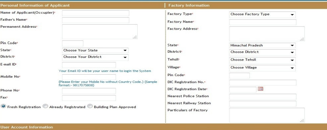 Step 2 - Himachal Pradesh Factory Registration