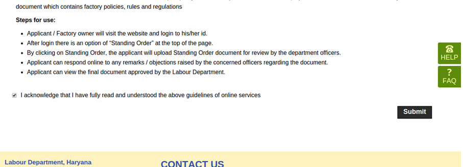 Step 3 - Haryana Factory Registration