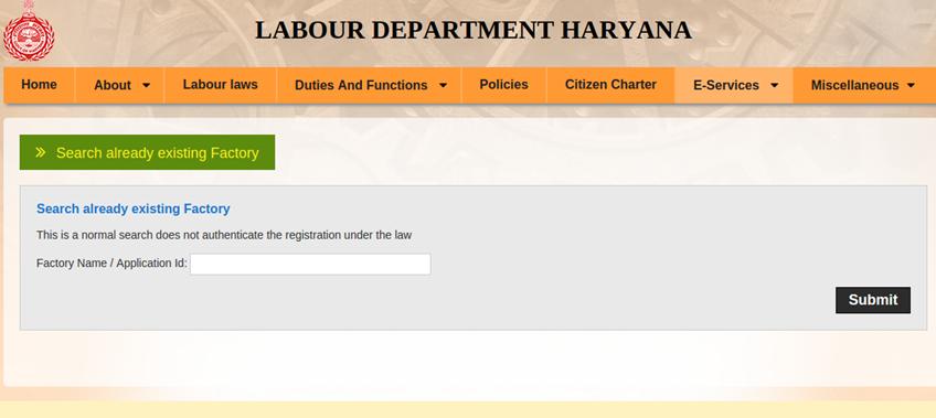 Step 4 - Haryana Factory Registration