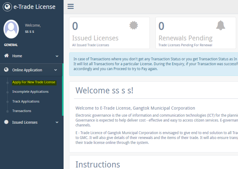 Step 7 - Sikkim Trade License
