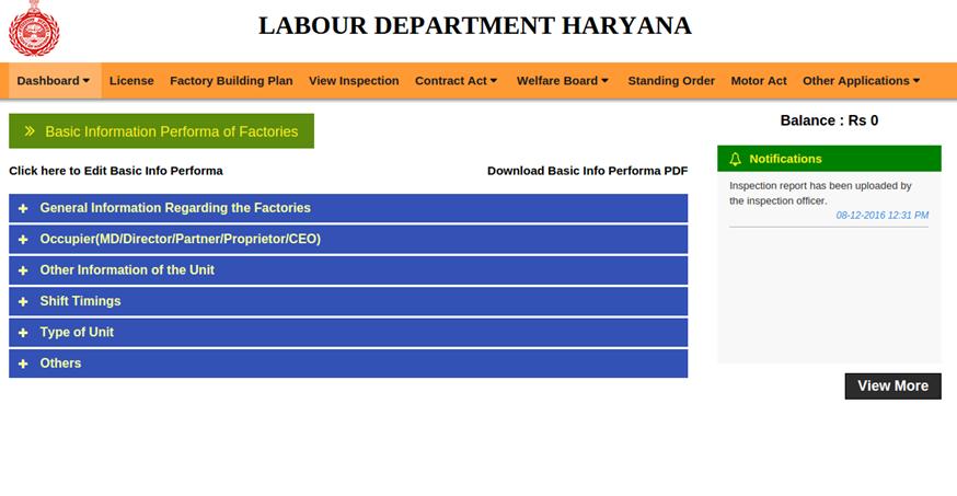 Step 8 - Haryana Factory Registration