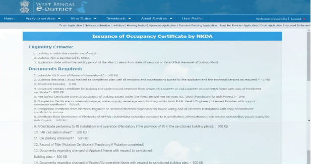 West Bengal Occupancy Certificate- Image 3