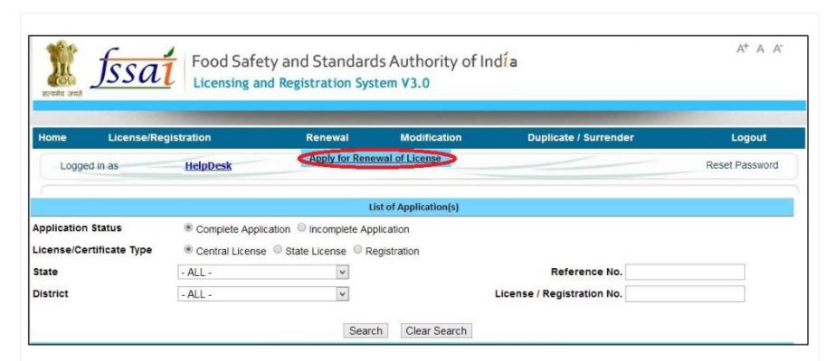 Renewal of FSSAI License - Himachal Pradesh FSSAI License or Registration