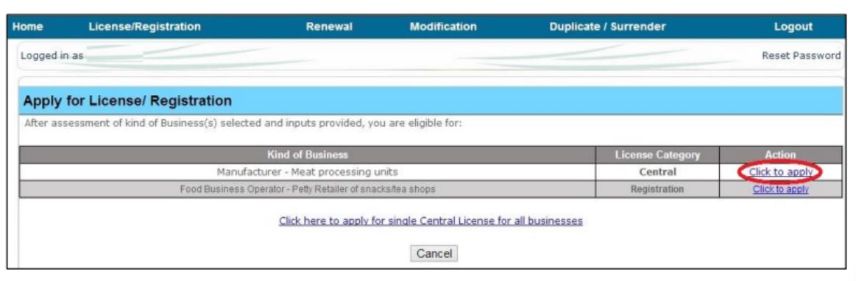 Step 15 - Himachal Pradesh FSSAI License or Registration