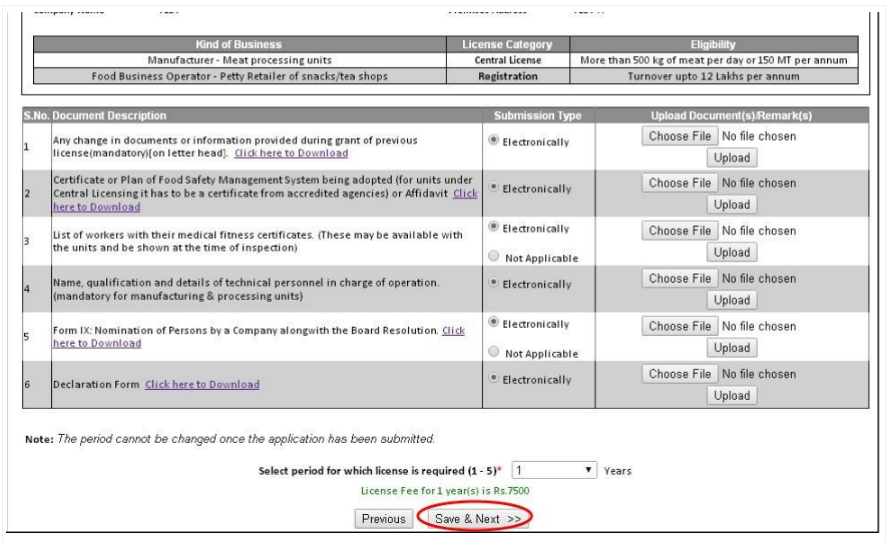 Step 20 - Himachal Pradesh FSSAI License or Registration