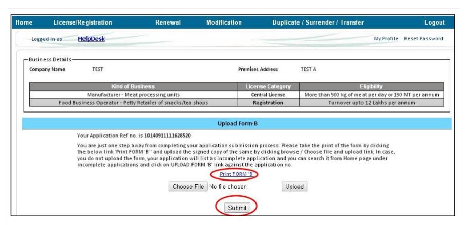 Step 25 - Himachal Pradesh FSSAI License or Registration