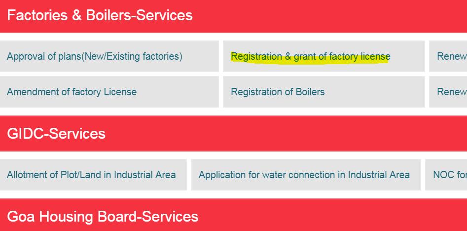 Step 9 - Goa Factory Registration