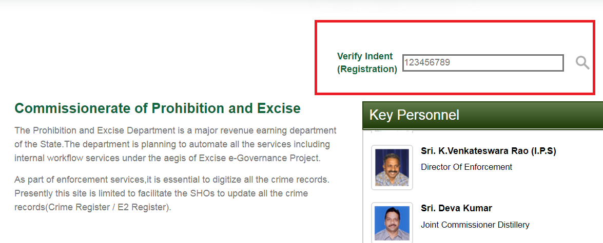 Track or Verify License Application - Andhra Pradesh Liquor License