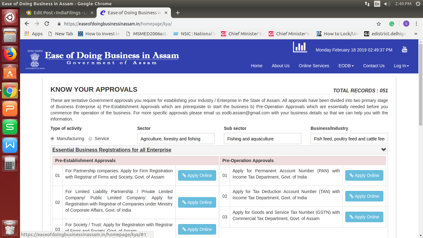 Image 4 Ease Of Doing Business In Assam Portal