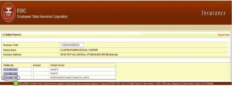 Image 6 Online Payment of ESIC Monthly Contribution