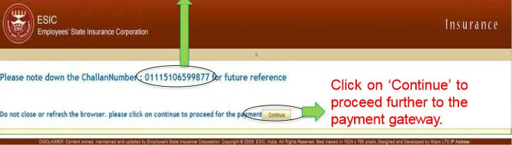 Image 7 Online Payment of ESIC Monthly Contribution