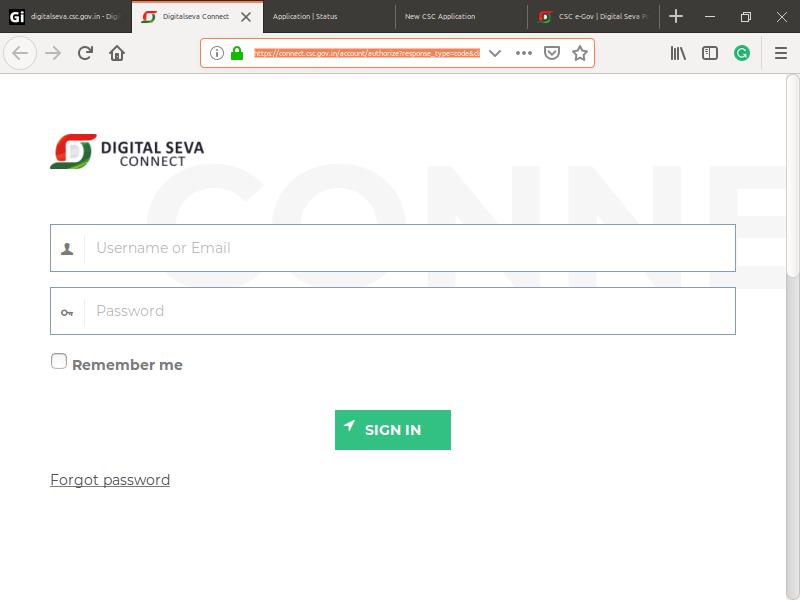 Step 1: Digital Seva Common Services Centers