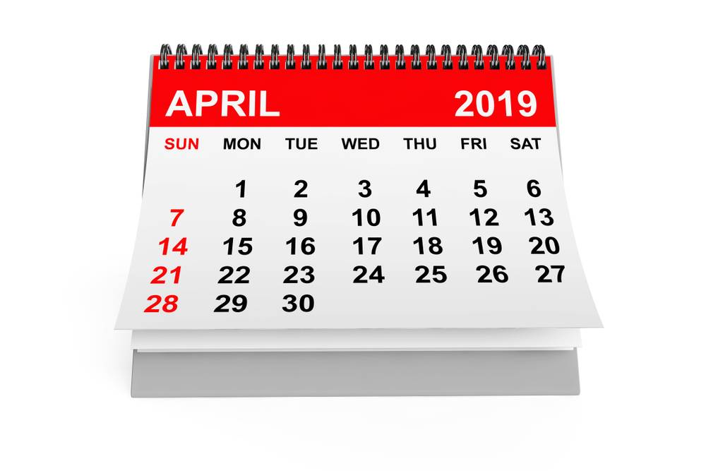 Compliance Calendar April 2019 Indiafilings