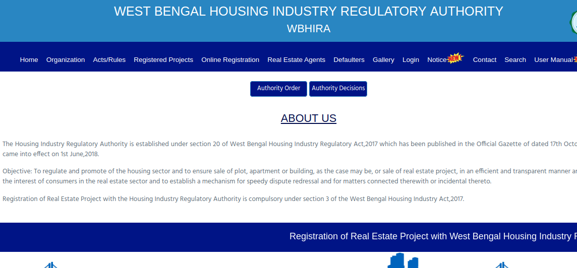 Step 1 - West Bengal RERA Registration for Projects