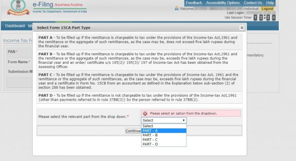 Step 5 - Income Tax Form 15CA