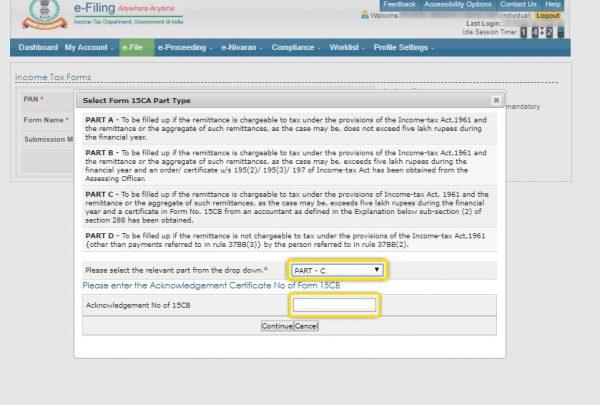 Step 5A - Income Tax Form 15CA