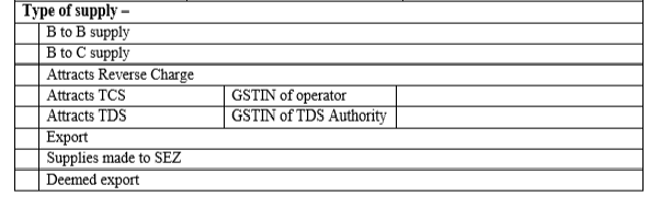 Form GST INV 1 - Part 3
