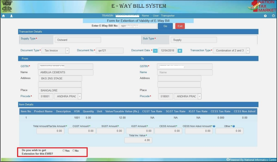 Image 8 Enhancement in e-Way Bill System