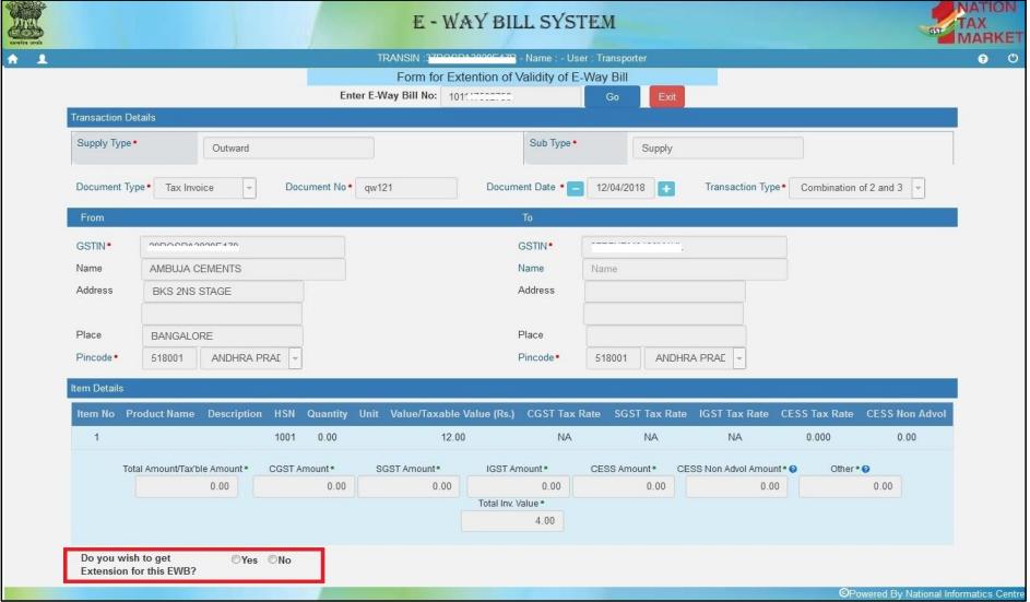eWay Bill Changes - April 2019 - IndiaFilings