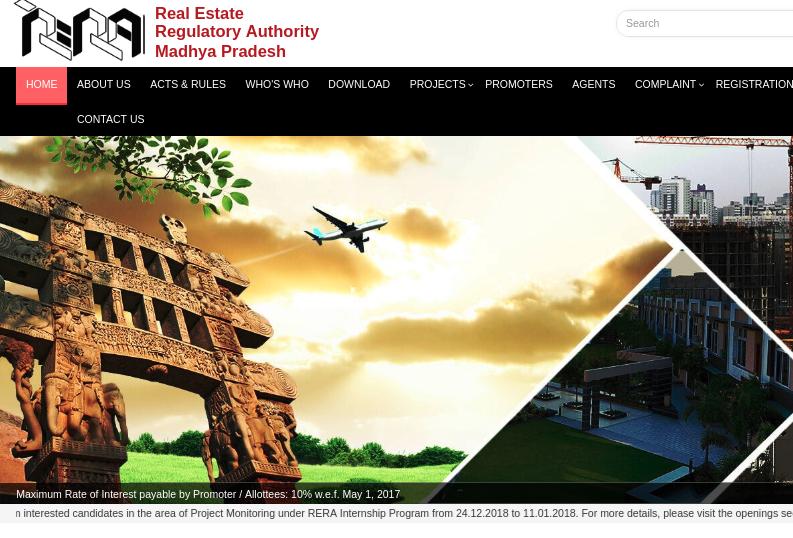 Step 1 - Madhya Pradesh RERARegistration for Projects