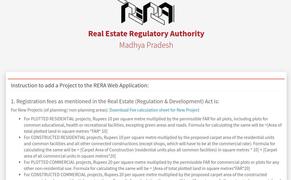 Step 4 - Madhya Pradesh RERARegistration for Projects