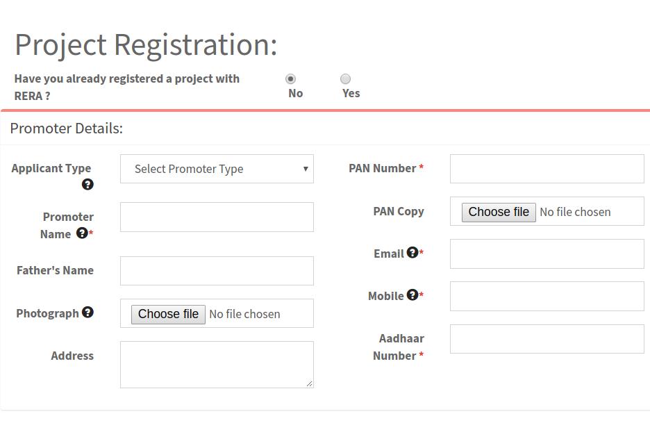Step 6 - Madhya Pradesh RERARegistration for Projects