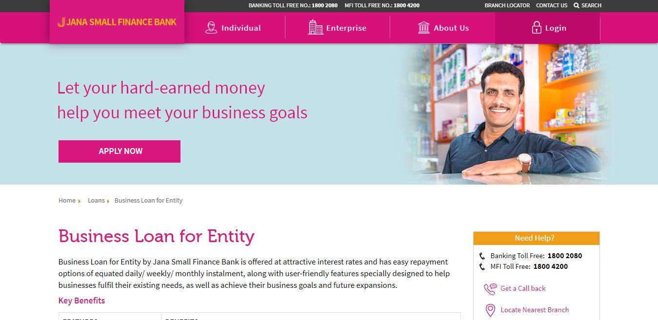 Image 2 Jana Small Finance Bank Business Loan for Entity