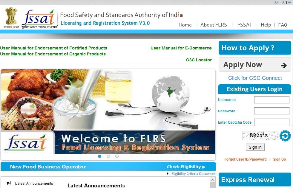 Step 1-FSSAI Registration for Restaurants