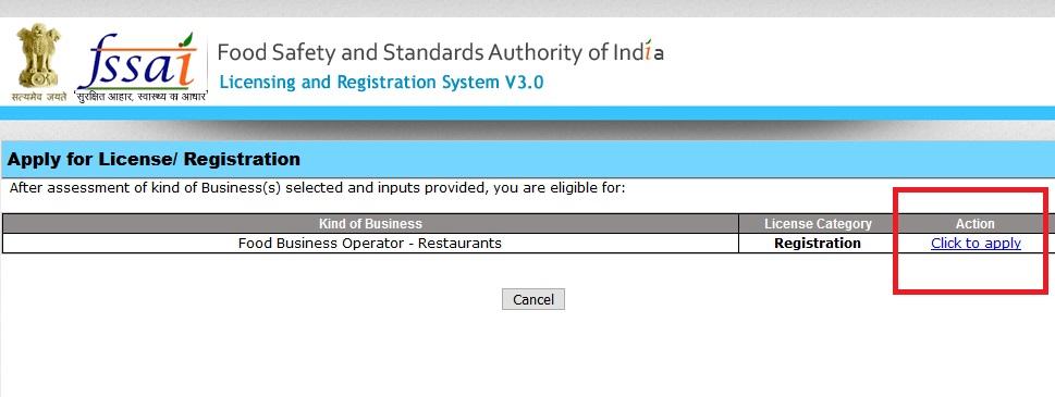 Step 10-FSSAI Registration for Restaurants