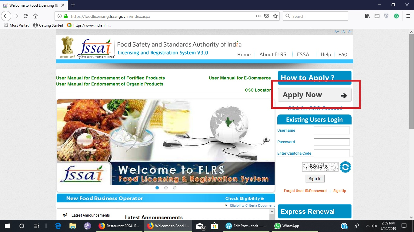 Step 2-FSSAI Registration for Restaurants