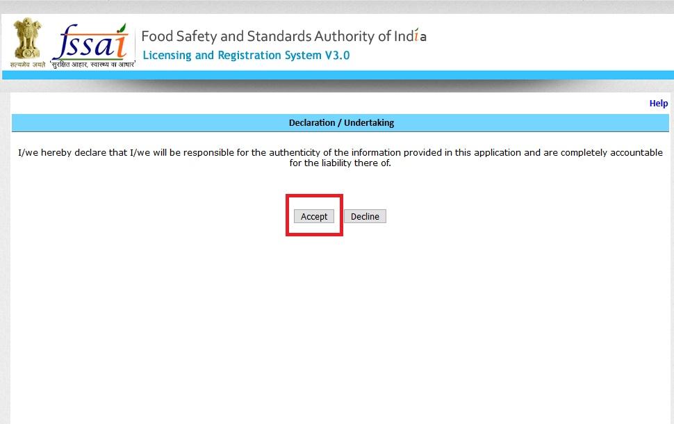 Step 3-FSSAI Registration for Restaurants