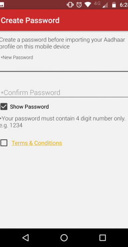 mAadhaar Password