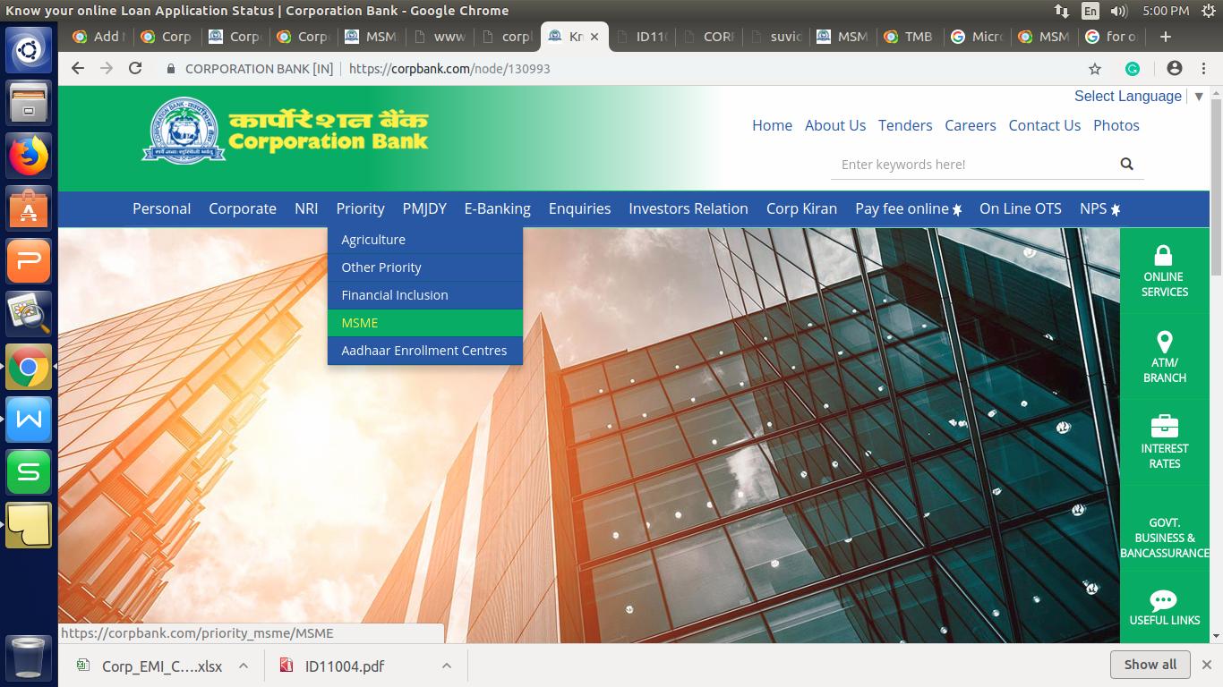 Corp SME Suvidha Scheme - Select MSME