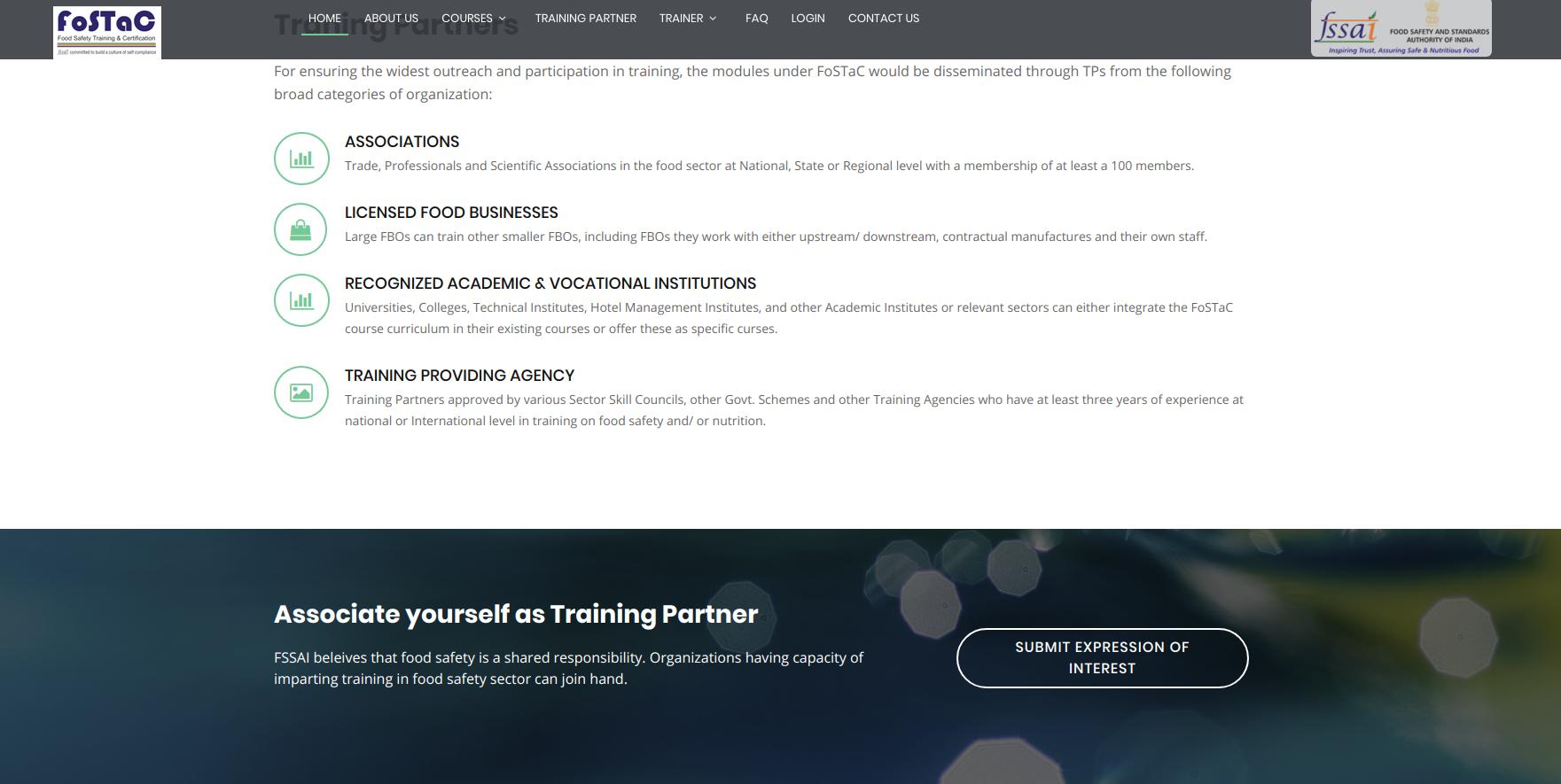 FOSTAG - Training Partner Application Form