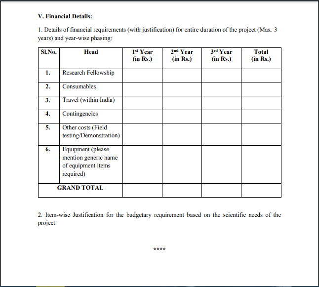 KIRAN-WOS-B_Funding Requirements