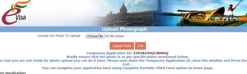 Step-6: e-Visa for India