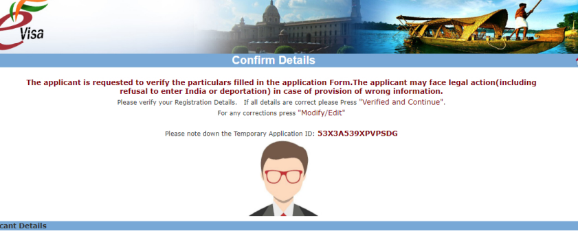 Step-9: e-Visa for India