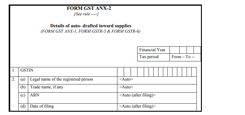 Form GST RET-1 - Form GST ANX-2