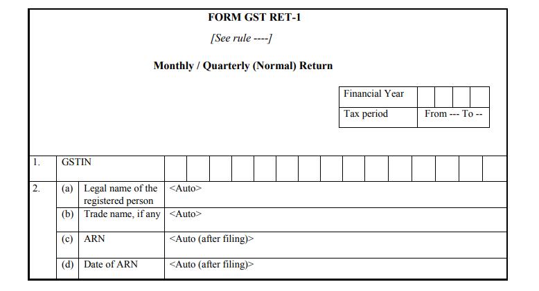 Form GST RET-1