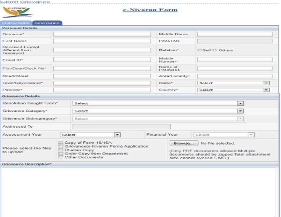 e-Nivaran - Complaint Registration - IndiaFilings