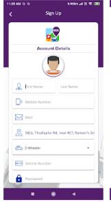 GCC Smart Parking System - Account Details