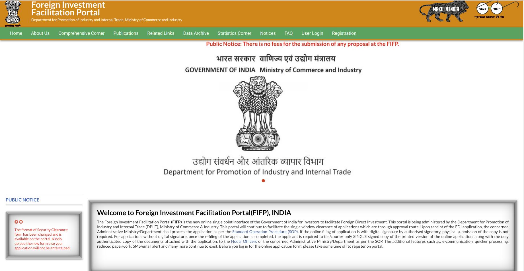 FIFP web portal