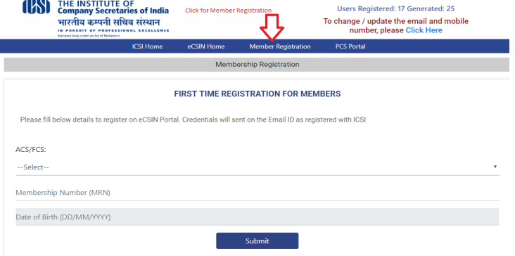 Employee Company Secretary Identification Number (eCSIN)-IMAGE 1