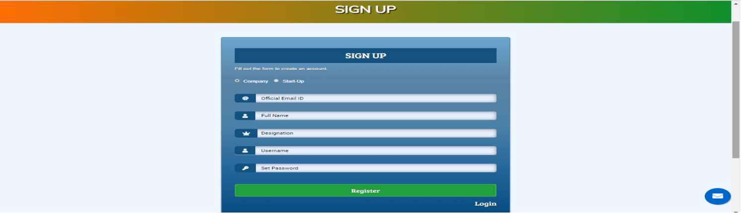 Sign-up-Page
