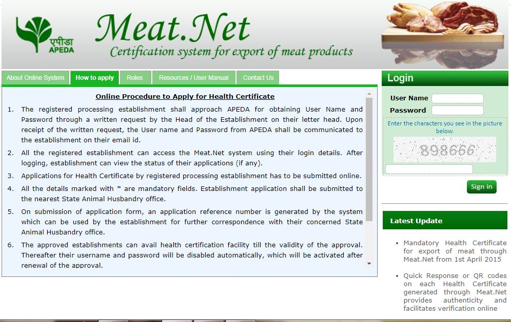 Image 2 Health Certificate for Export of Food Products