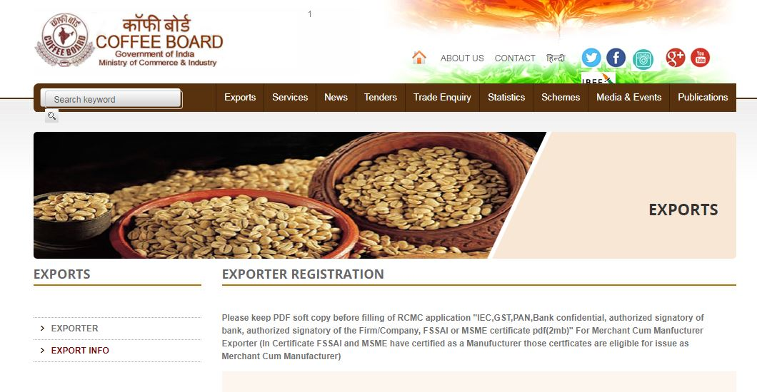 Coffee-Board-of-India-Exporter-Registration