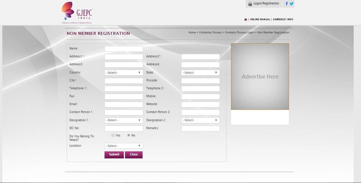 Kimberley-Process-Certificate-Non-Member-Registration