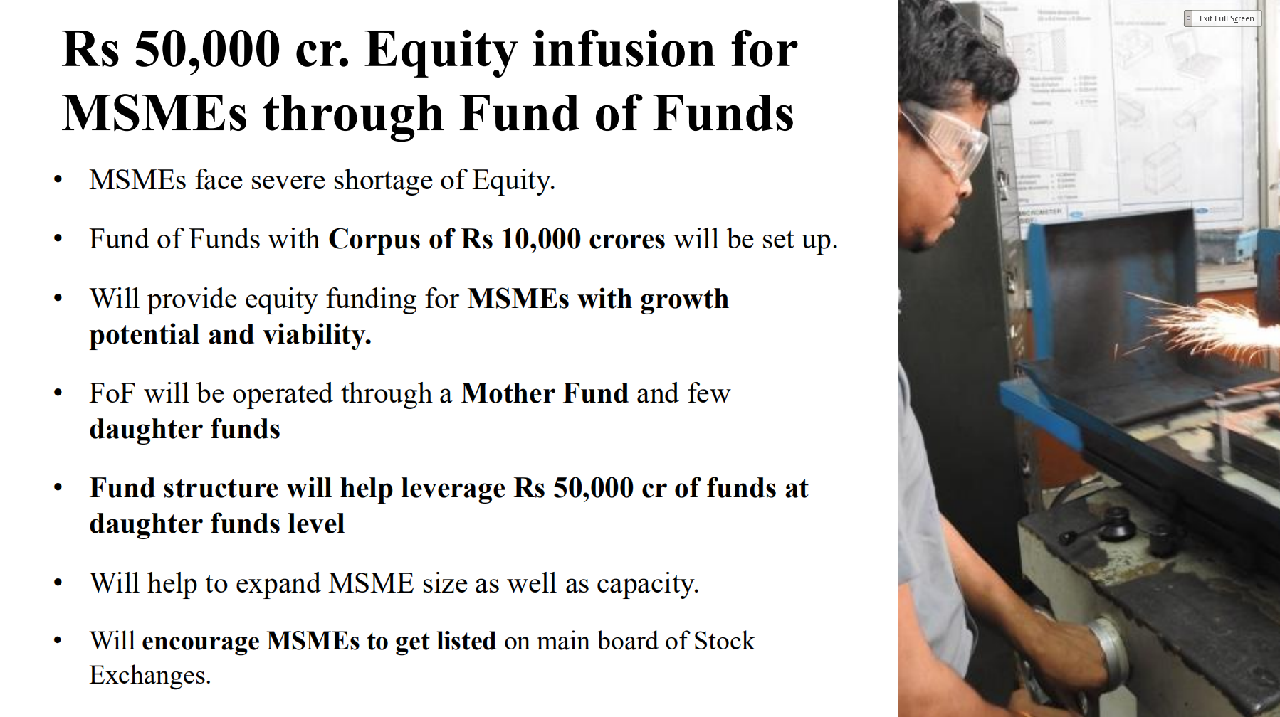 Equity for MSMEs