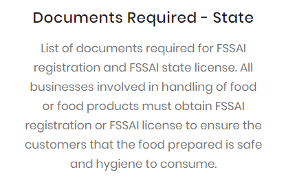 Documents Required - State