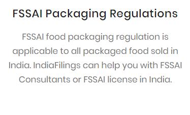 FSSAI Packaging Regulations